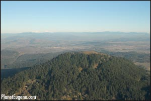 Aerial photo of Spencer Butte